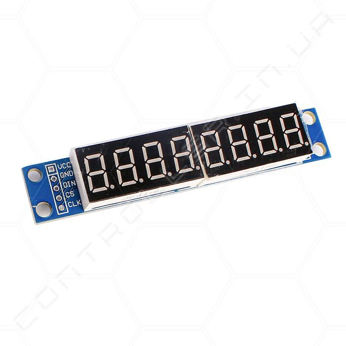 Модуль дисплей MAX7219 из восьми семисегментных индикаторов
