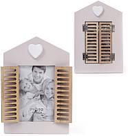 Фоторамка Bona Babyroom Окно со ставнями 10 х 15 см Коричневый psgBD-443-538, КОД: 1033791