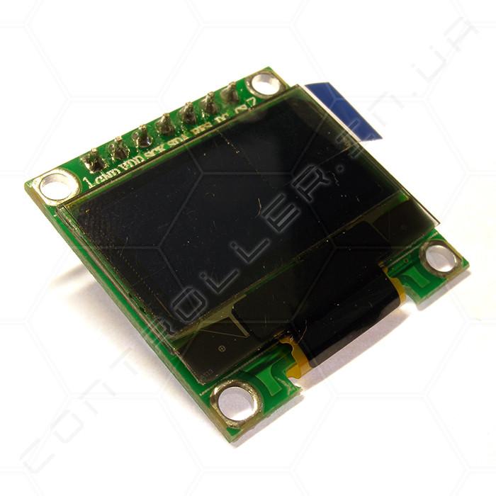 Модуль дисплей OLED 0.96 SPI 128x64 сине-желтый