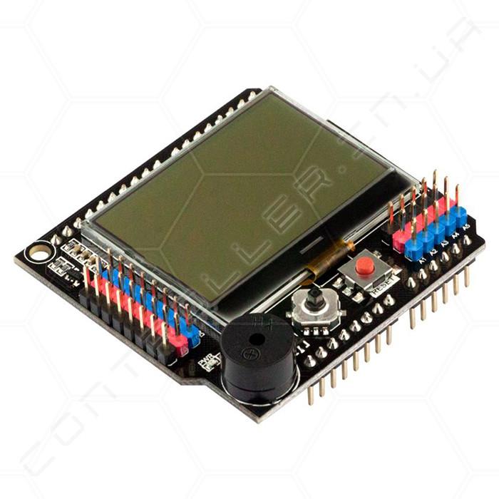 Модуль ЖК-дисплей с джойстиком и зуммером RobotDyn 128x64