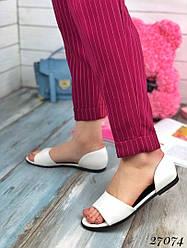 Балетки с открытым носком, эко-кожа + (3 цвета)