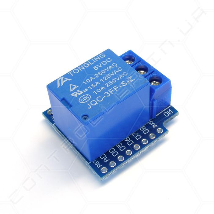 Модуль реле одноканальный для WeMos D1 mini 5В