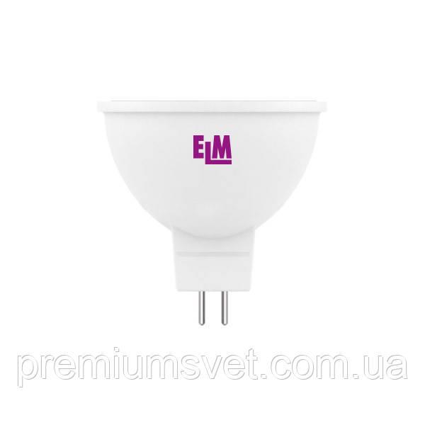 Лампа ELM Led MR16 3.5W PA10L GU5.3 3000 (18-0064)