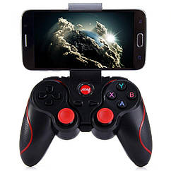 Геймпад беспроводной для смартфона Terios T3 Bluetooth Черный с красным UFGGBVVC97RH, КОД: 955646