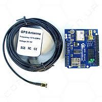 Плата GPS приемник чип Ublox NEO-6M с активной антенной
