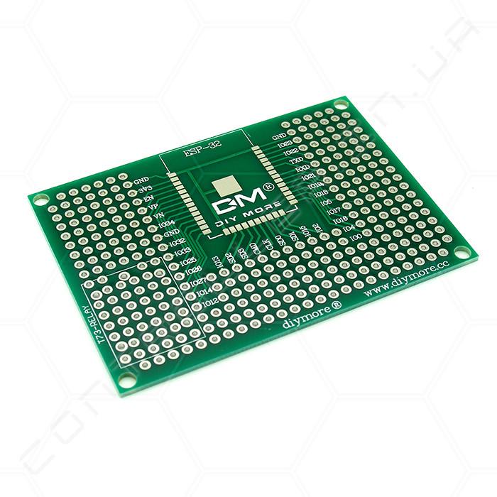 Плата адаптер двостороння для ESP8266 версій ESP-32, ESP-12E, ESP-12F