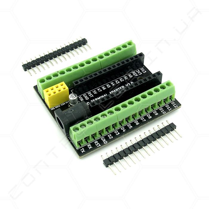 Плата адаптер для Arduino Nano V3.0 и NRF2401+