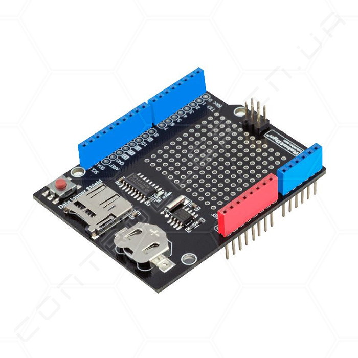 Data logger shield - Реєстратор c Micro рідер SD-карт і годинником реального часу RobotDyn