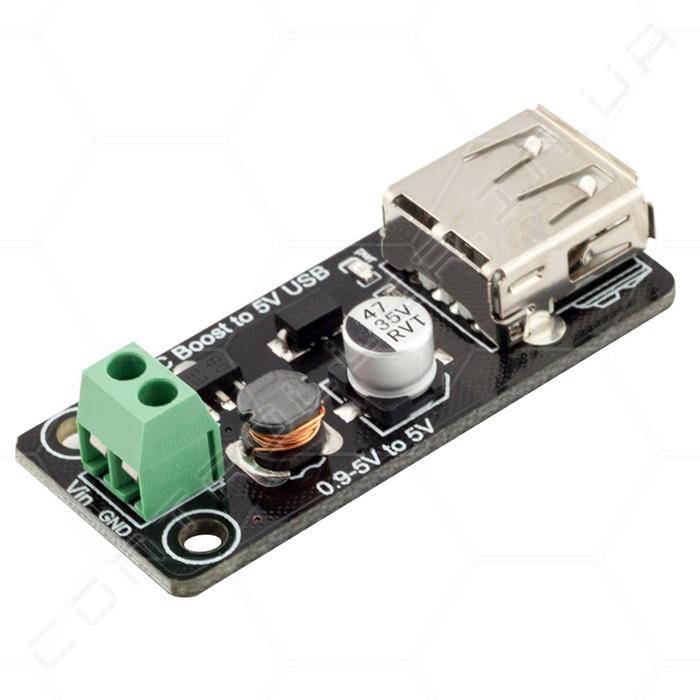 Преобразователь повышающий DC-DC 5В 500мА USB RobotDyn