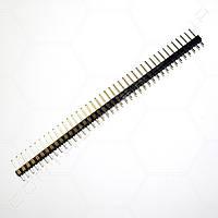 Разъем штыревой PLS-40 1х40 прямой, черный, папа, шаг 2.54