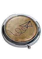 Зеркальце косметическое DevayS Maker DM 01 D 7 см Полет Коричневое 22-08-452, КОД: 1238845