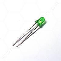 Світлодіод зелений 3мм