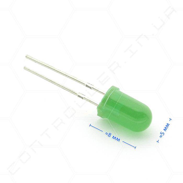 Светодиод зеленый 5мм