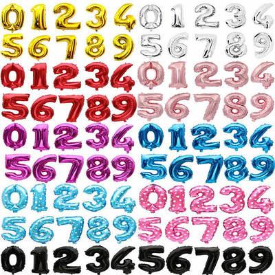 Цифри фольга та кола цифри фольга