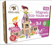 Эко-конструктор на магнитах Zevs-toys Castle for girls 133 деталей 400330, КОД: 1187091