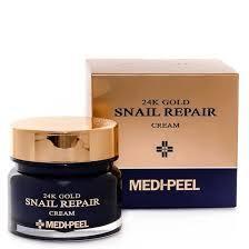Крем для лица с колллоидным золотом и муцином улитки Medi-Peel 24k Gold Snail Repair Cream
