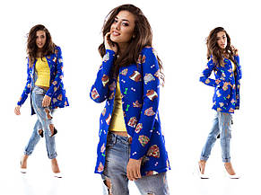Женский пиджак неопрен с рисунком , фото 2