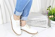 Белые кожаные мокасины Meldymoor 104-beyaz, фото 2