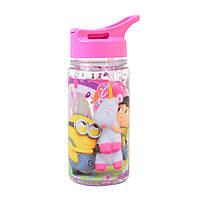 Бутылка для воды YES с блетсками Minion Fluffy 280 мл Розовый 706883, КОД: 1563736