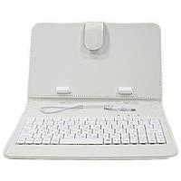 Обложка-чехол Lesko для планшета 7 дюймов с клавиатурой microUSB White 243-9518, КОД: 1174685