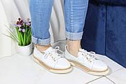 Шкіряні мокасини на шнурівці Meldymoor 24T-Beyaz, фото 2