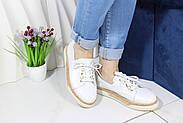 Шкіряні мокасини на шнурівці Meldymoor 24T-Beyaz, фото 3