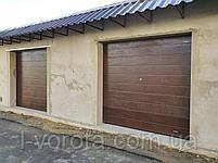 Секционные гаражные ворота DoorHan 2500*2500 (коричневый цвет), фото 3