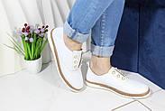 Белые кожаные мокасины Meldymoor 104-beyaz, фото 3