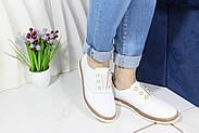 Белые кожаные мокасины Meldymoor 104-beyaz, фото 4