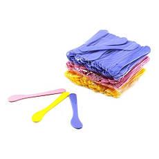 Шпатель лопатка косметологическая пластиковая 15 см (50 шт уп.)