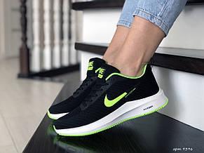 Кроссовки женские (подростковые) Nike Flyknit Lunar 3,черные с салатовым, фото 2