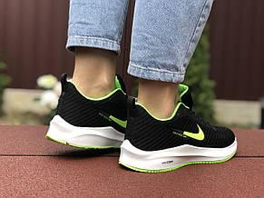 Кроссовки женские (подростковые) Nike Flyknit Lunar 3,черные с салатовым, фото 3