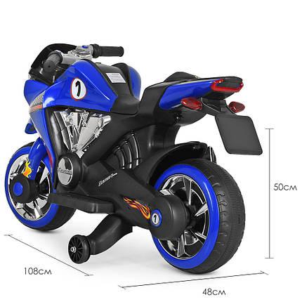 Дитячий електромотоцикл BMW Bambi M 3682L-4 синій, фото 2