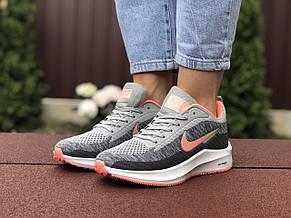 Кроссовки женские Nike Flyknit Lunar 3,серые с розовым, фото 3