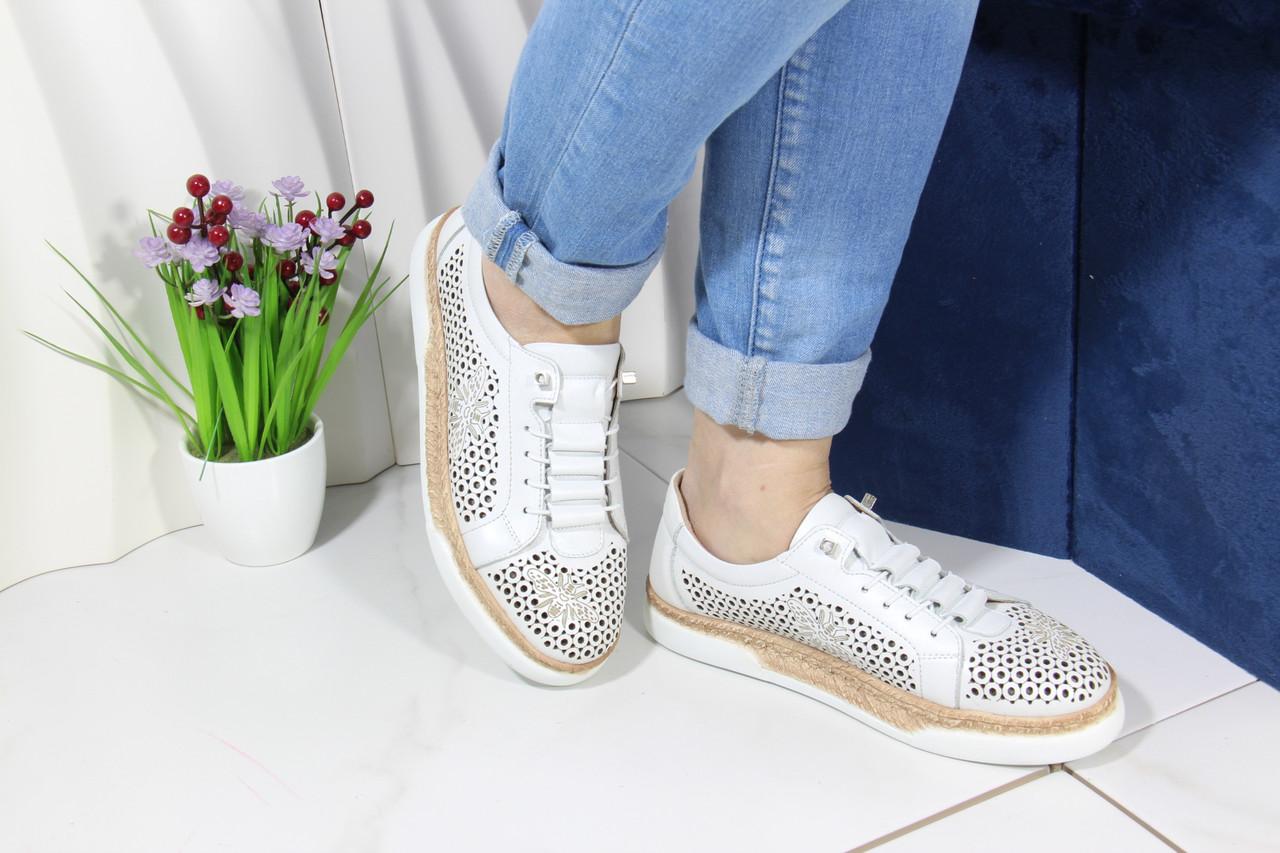 Модные кожаные мокасины Meldymoor 26T-beyaz