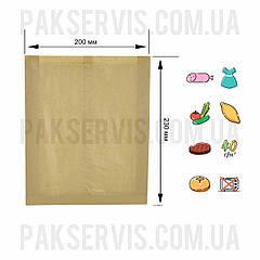 Пакет паперовий крафт 230х200х40, 1/2500