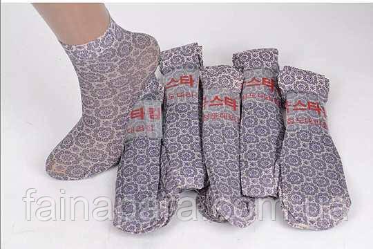 Капроновые носки женские Лайкра с рисунком