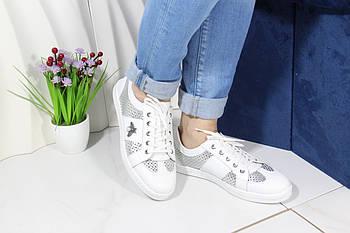 Стильные белые кроссовки Meldymoor 41M-beyaz