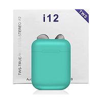 Беспроводные сенсорные наушники TWS i12 Mint, фото 1