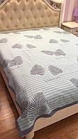 Покрывало на кровать льняное 210*230
