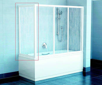 Неподвижная стенка для ванны Ravak APSV-70 сатин transparent