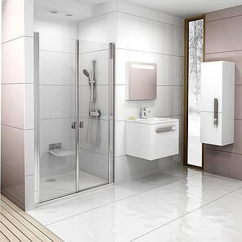 Душевые двери Ravak Chrome 90 см CSDL2-90 полированный алюминий+transparent