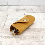 Ключница на 4 ключа 4keys желтая из натуральной кожи crazy horse, фото 3