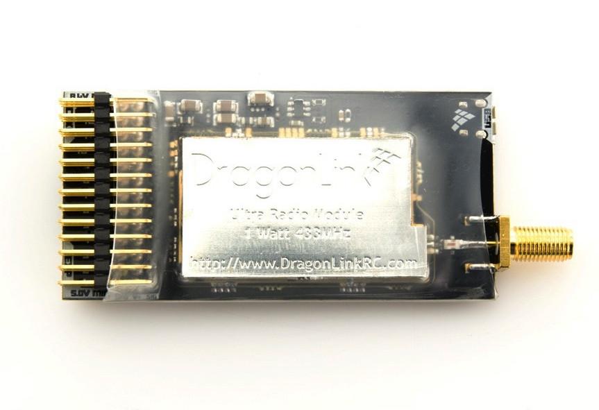 Приемник LRS Dragon Link 433MHz усиленный 1500mW (антенна 15см)