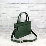 Портфель gs 1800 зеленый из натуральной кожи kapri, фото 2