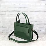 Портфель gs 1800 зеленый из натуральной кожи kapri, фото 9