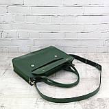 Портфель gs 1800 зеленый из натуральной кожи kapri, фото 6
