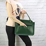 Портфель gs 1800 зеленый из натуральной кожи kapri, фото 3