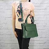 Портфель gs 1800 зеленый из натуральной кожи kapri, фото 7