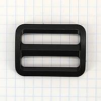 Регулятор пряжка перетяжка 32 мм пластиковая черная для сумок a3628 (100 шт.)